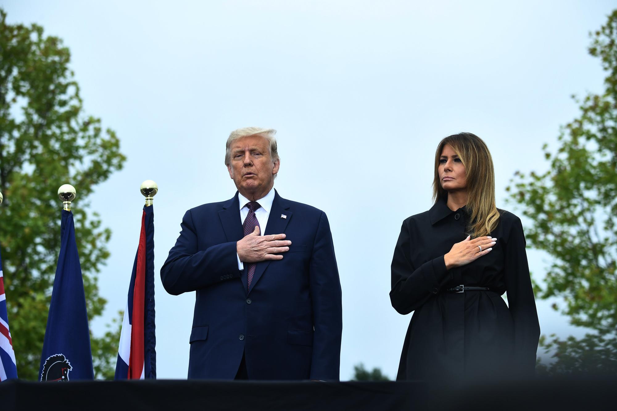 Donald et Melania Trump à Shanksville, Pennsylvanie, Brendan Smialowski / AFP
