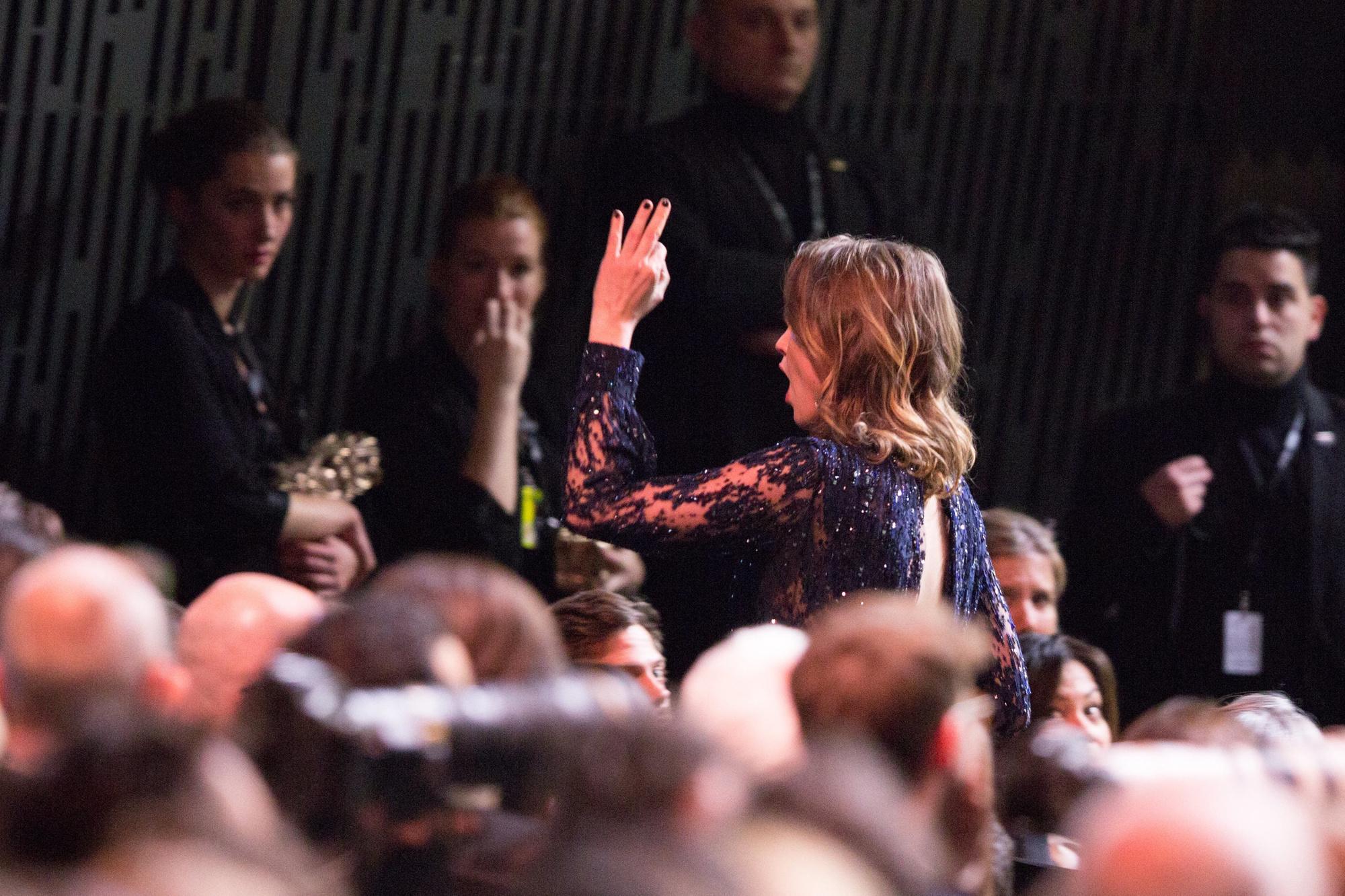Adèle Haenel quitte la cérémonie après l'annonce du César du meilleur réalisateur à Roman Polanski., ISOPIX/Nasser Berzane/ABACAPRESS.COM