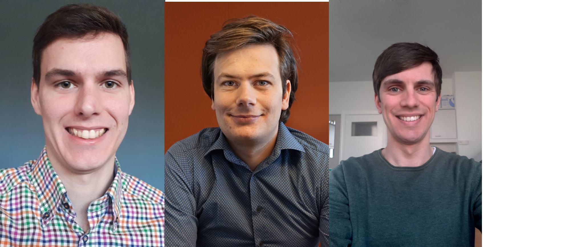 Van links naar rechts: dokter Steven Fleerackers, dokter Sicco Bakker en dokter Thomas Stulens., -