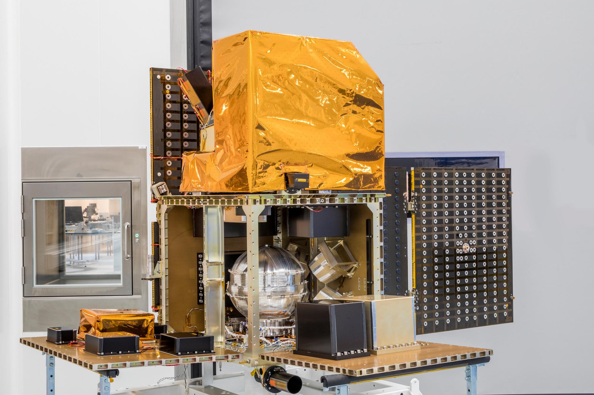 Zo ziet de satelliet die QinetiQ bouwt er uit., QinetiQ