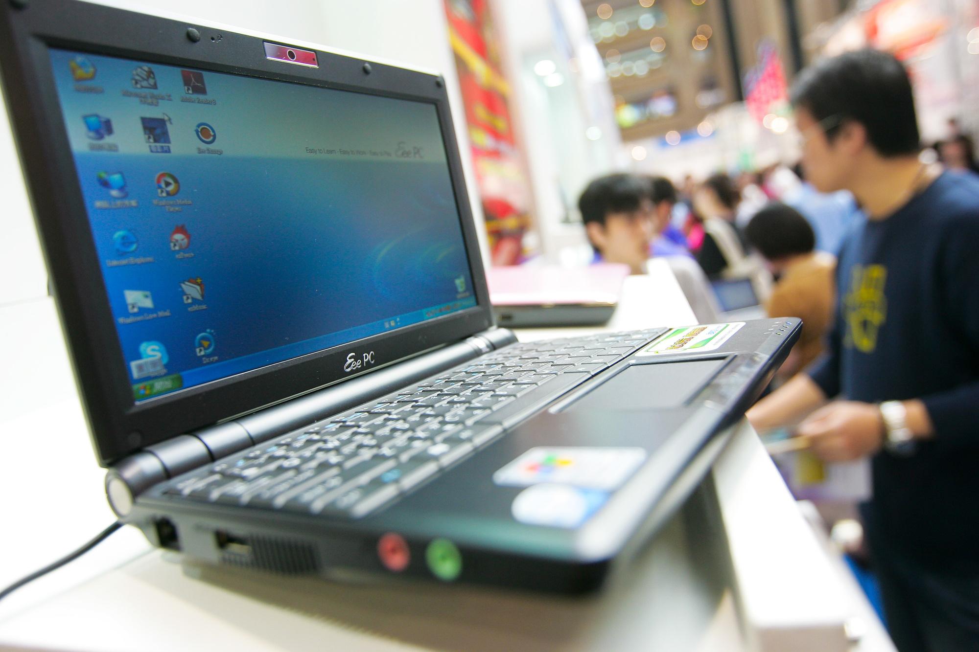 Asus kwam als een van de eersten met minilaptops of netbooks., Getty Images