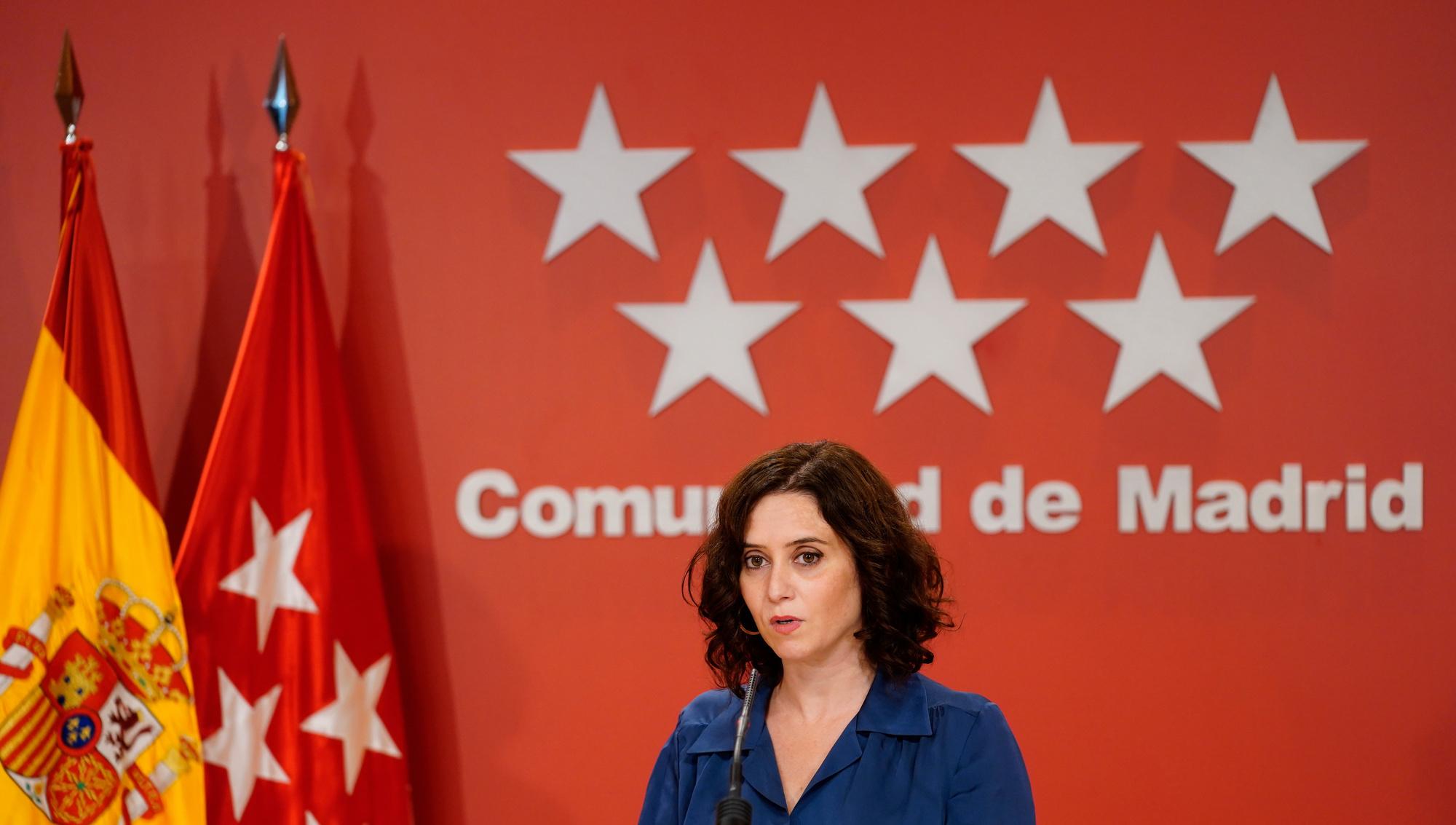 Isabel Díaz Ayuso, présidente de la communauté de Madrid, BELGA IMAGE