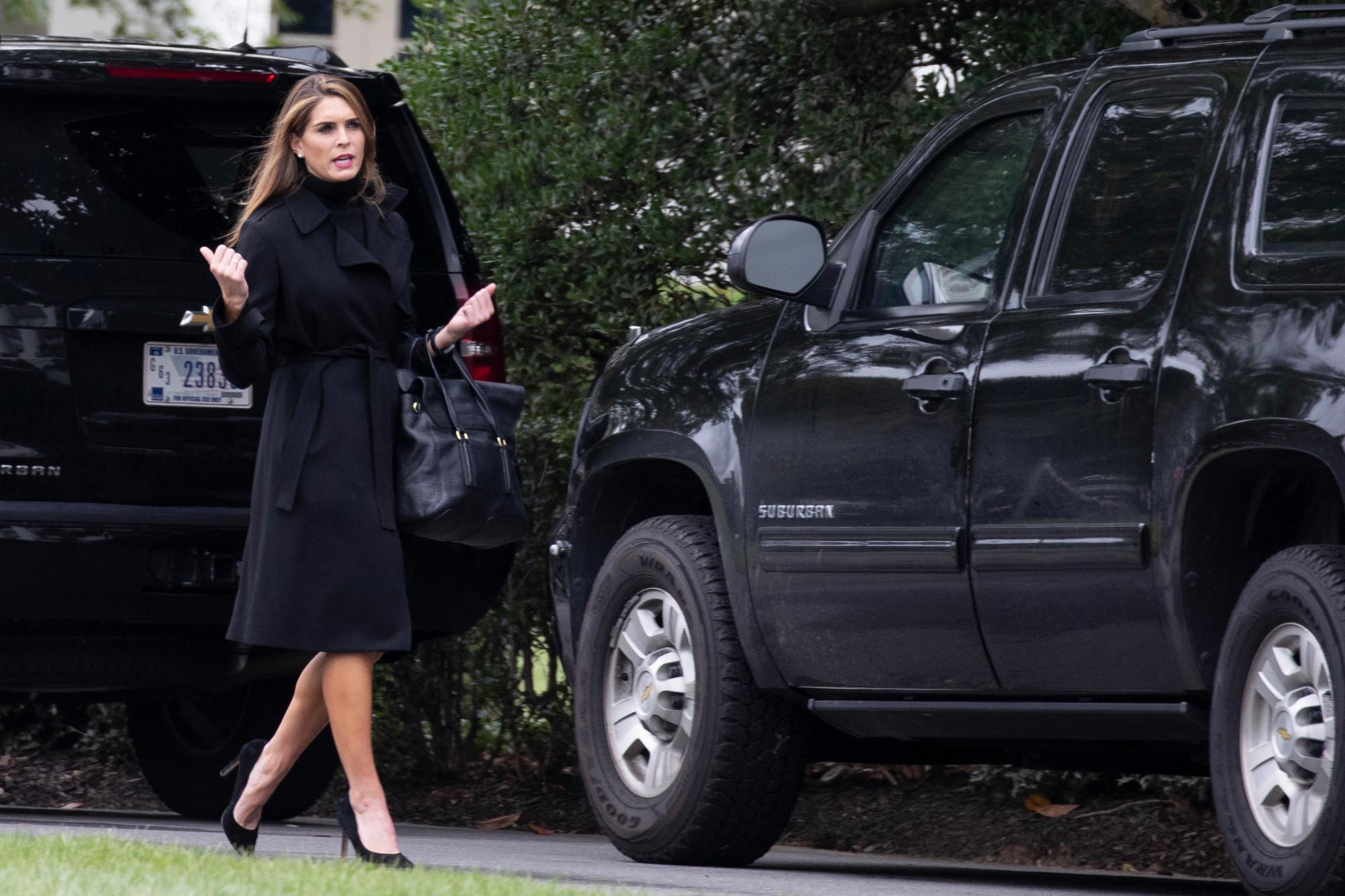 Hope Hicks, proche conseillère du président Trump., AFP