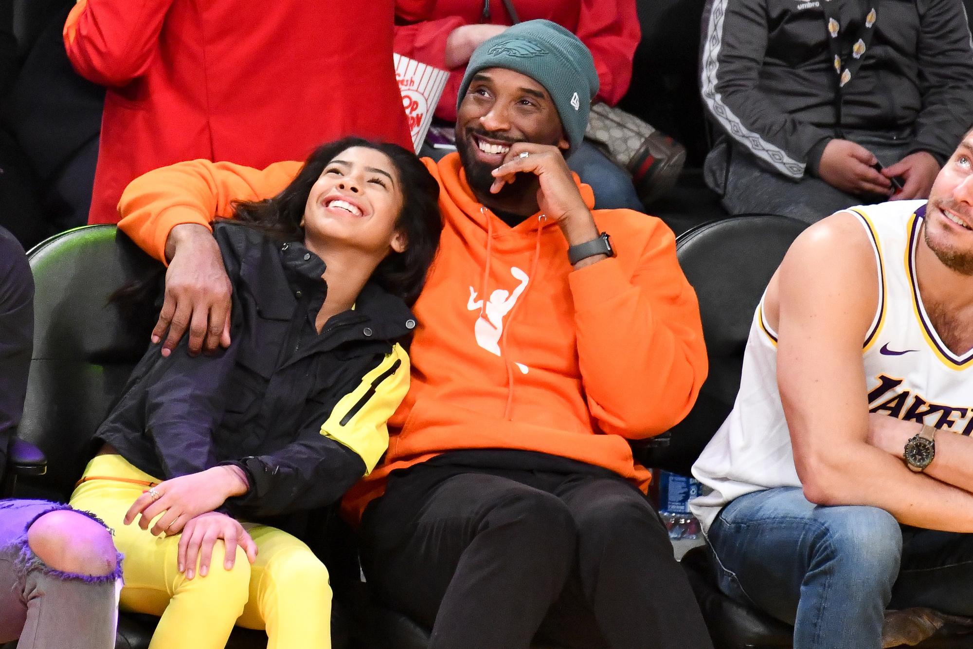 Kobe Bryant et sa fille Gianna Bryant, décédée aussi dans l'accident d'hélicoptère., GETTY