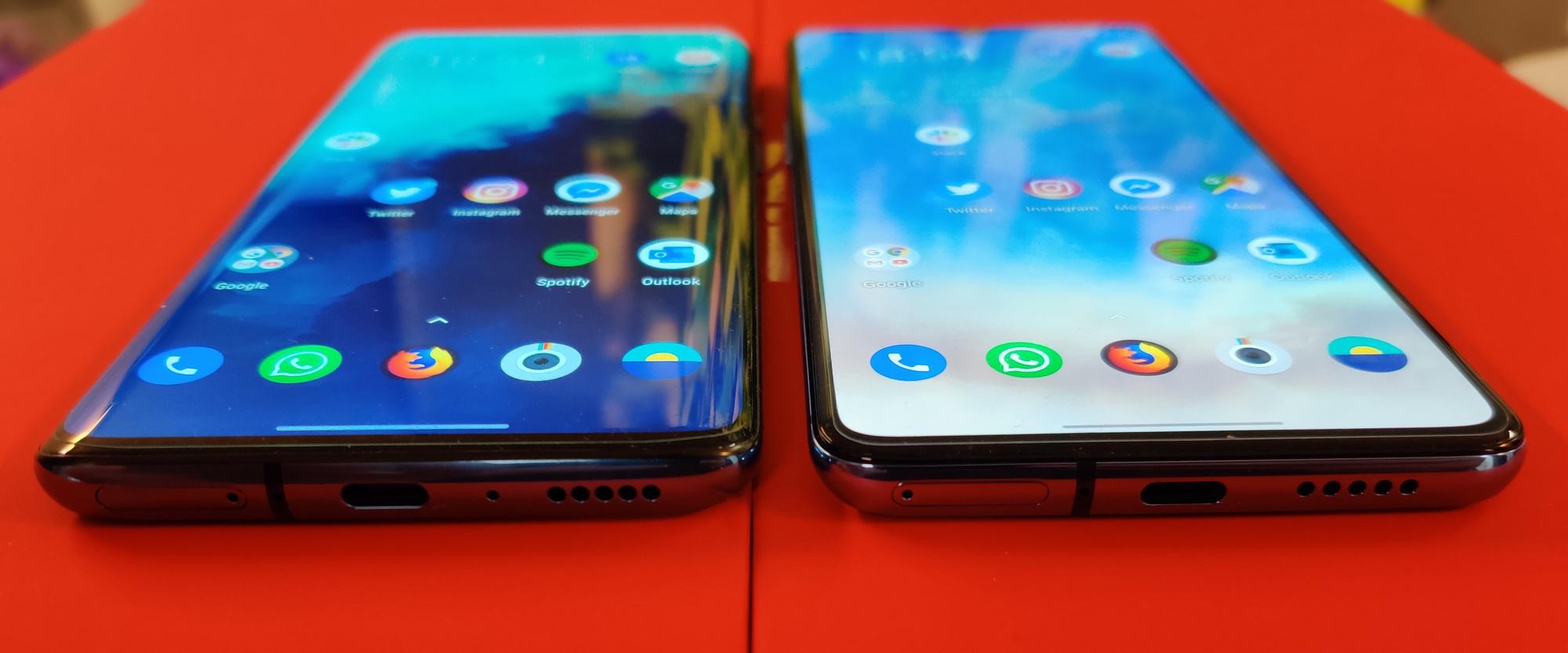 OnePLus 7T (à gauche) et 7T Pro (à droite), PVL