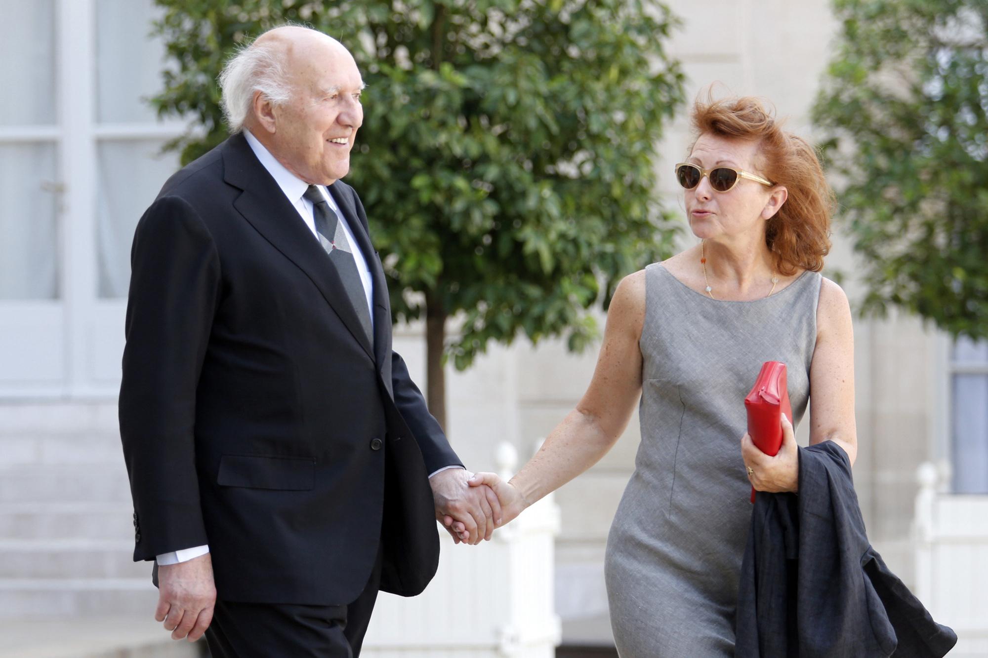 Michel Piccoli et sa femme Ludivine Clerc en 2012., BELGA