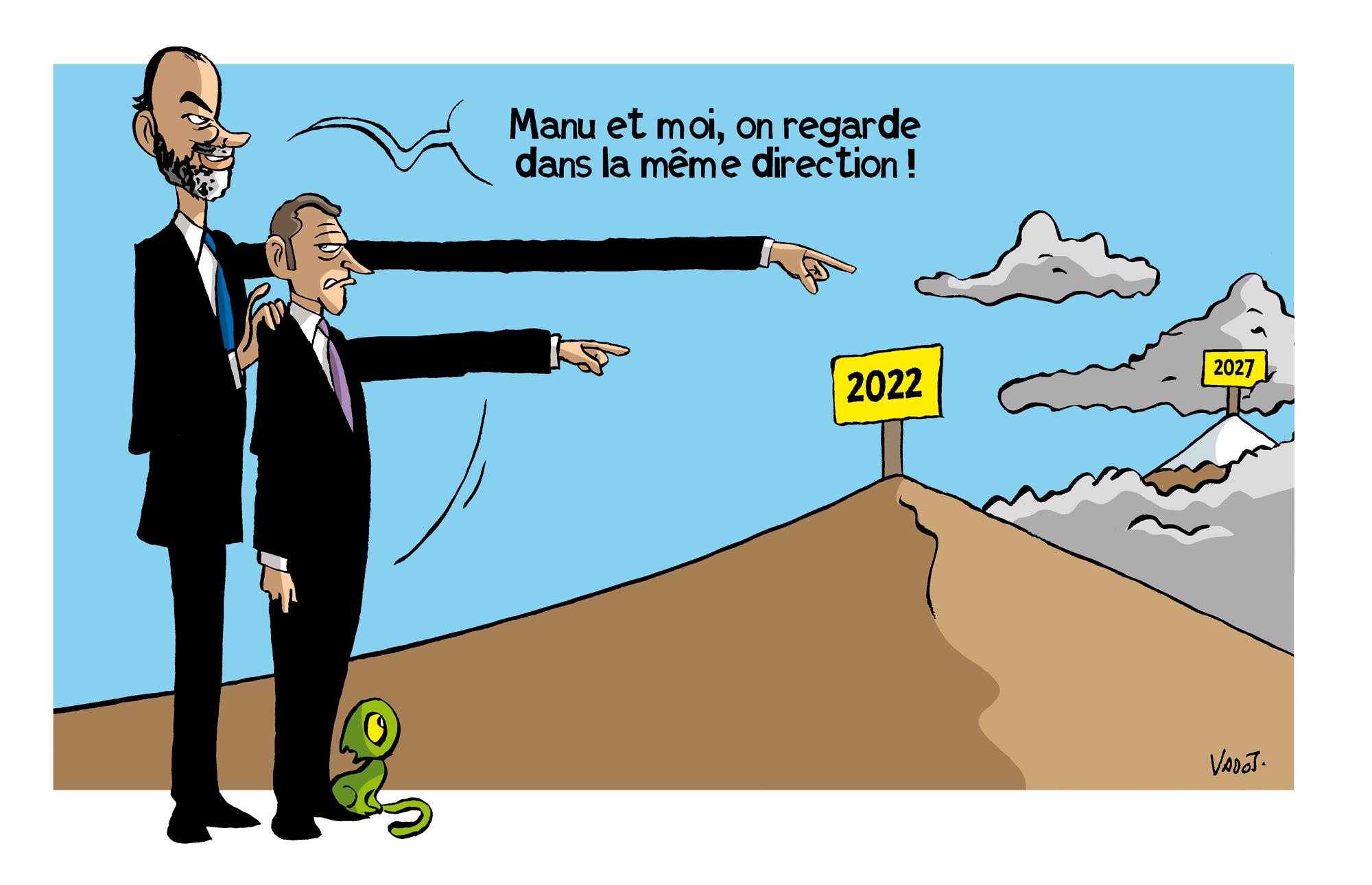 Edouard Philippe soutiendra Emmanuel Macron pour l'élection présidentielle de 2022, en visant peut-être un peu plus loin..., Vadot
