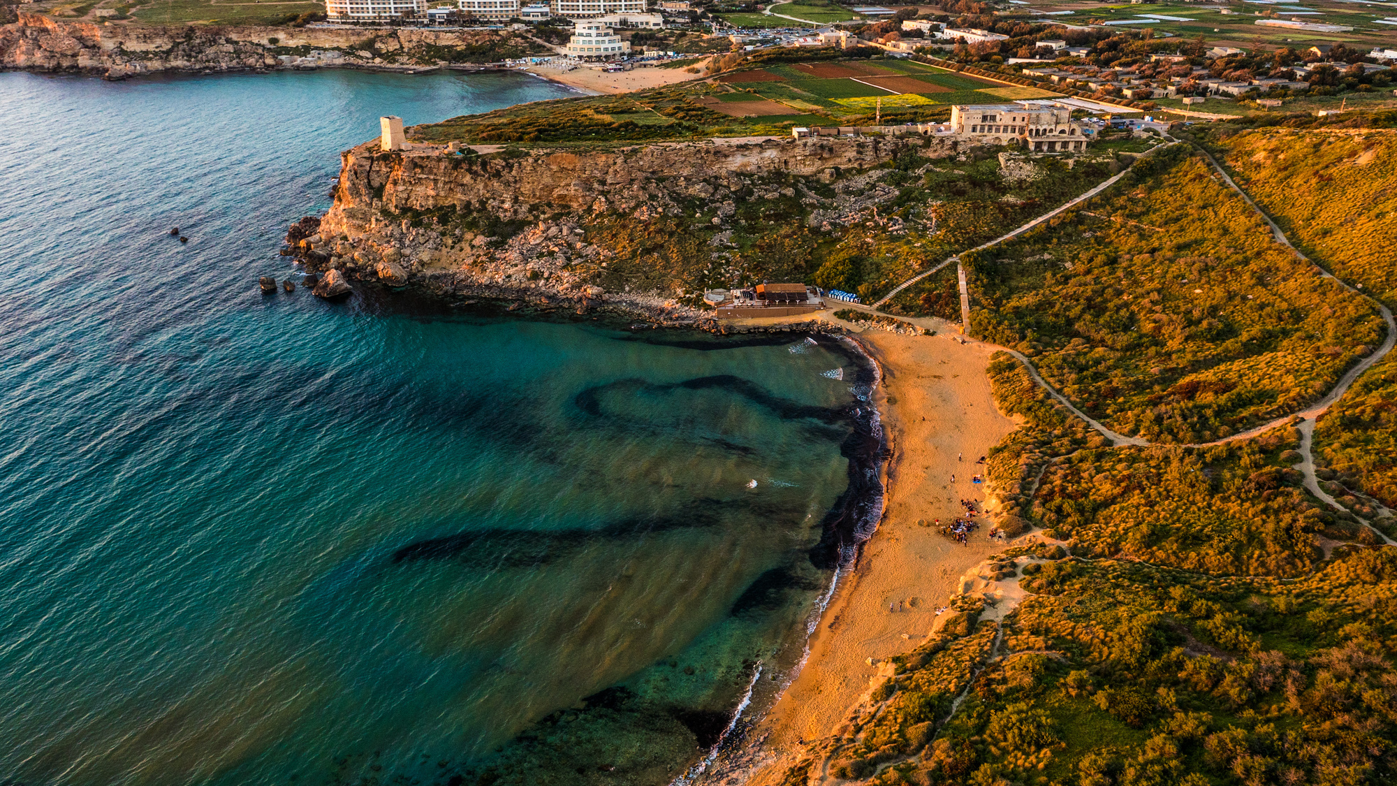 Golden Bay, Visit Malta