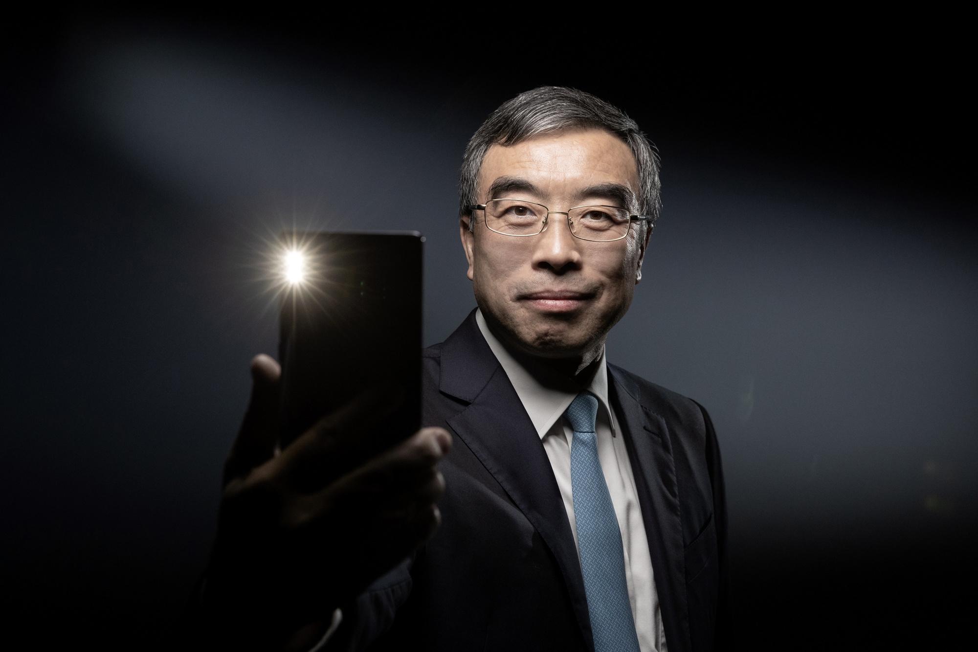 Liang Hua, le CEO d'Huawei, BELGAIMAGE