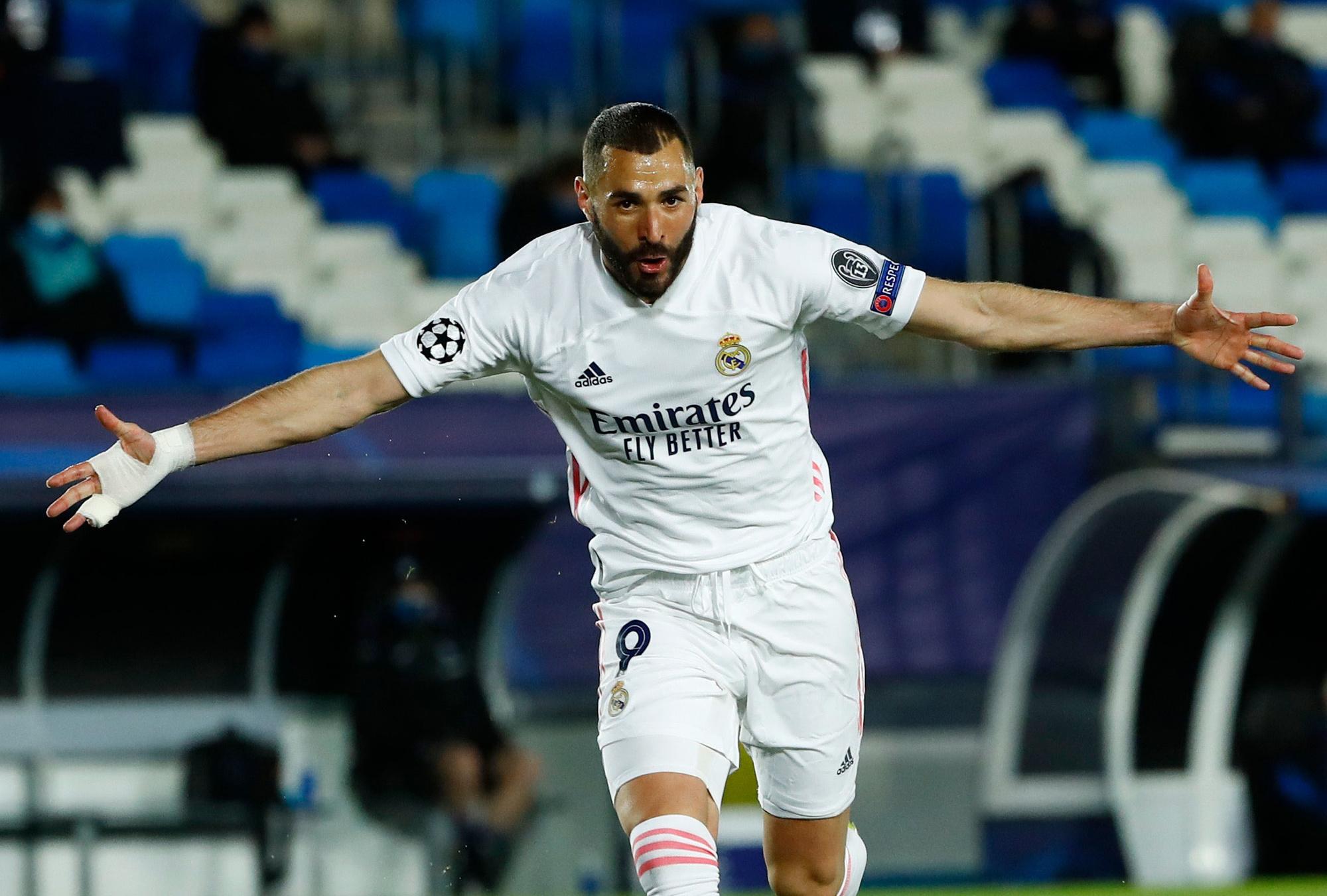 Karim Benzema scoorde., Reuters