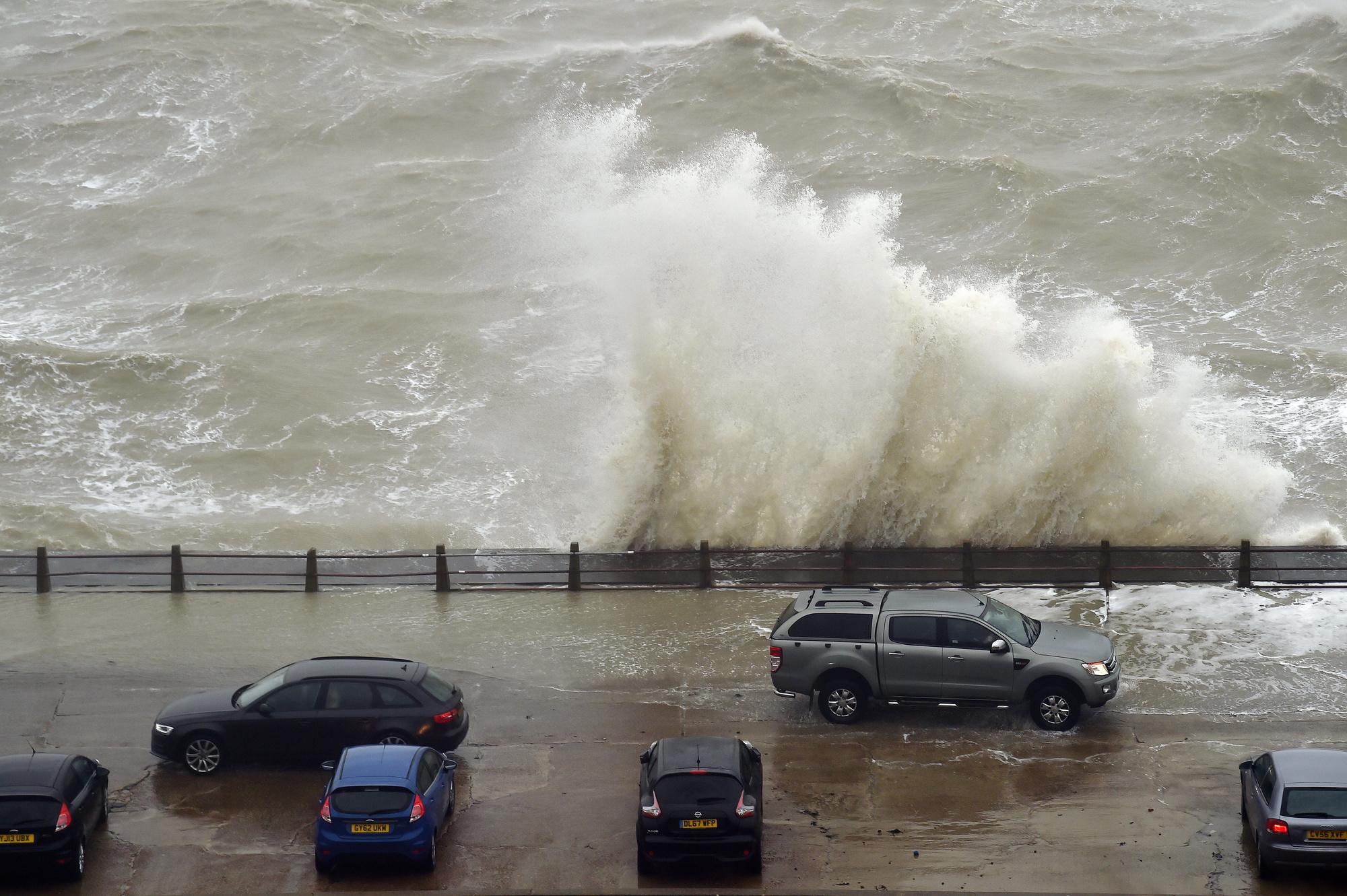 La tempête Ciara balaie les côtes du sud de la Grande-Bretagne., belga