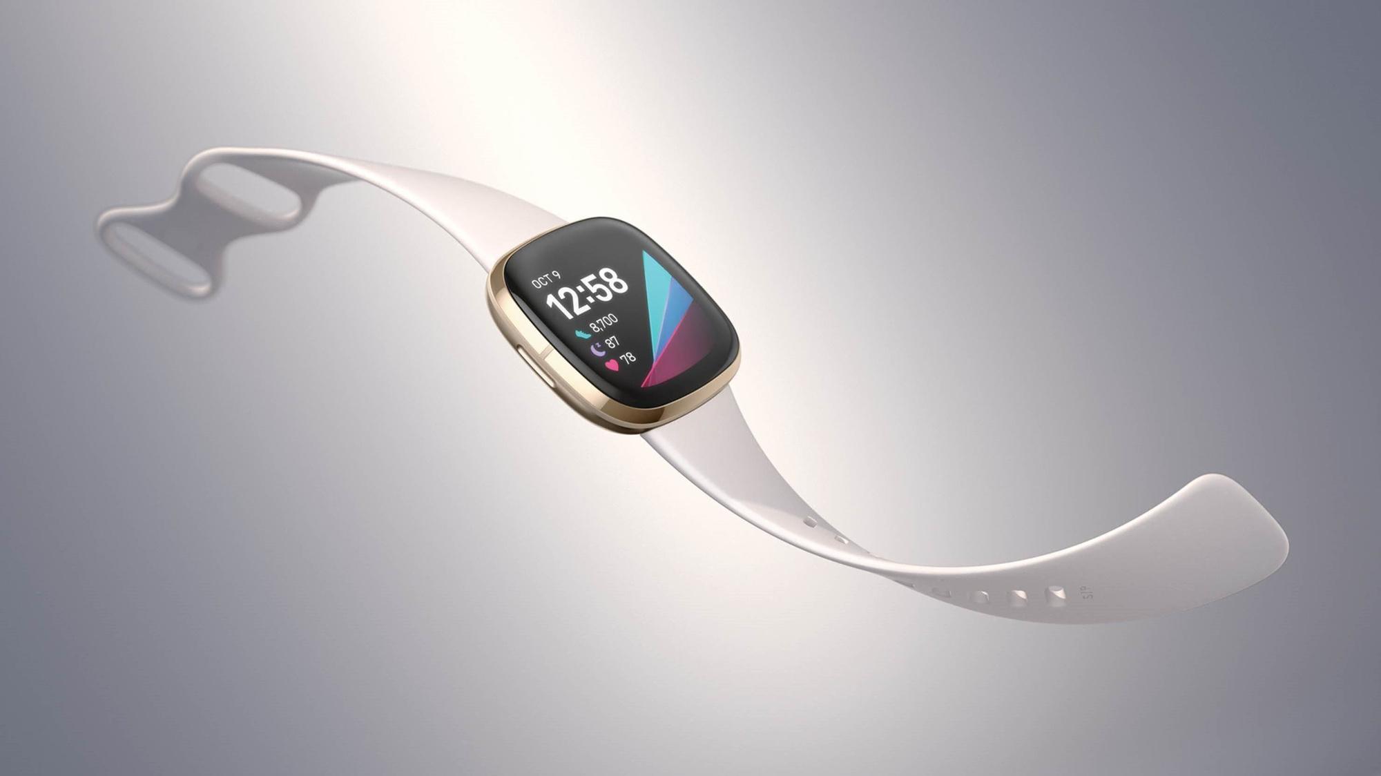La Fitbit Sense dans l'une de ses nombreuses variantes disponibles., Fitbit