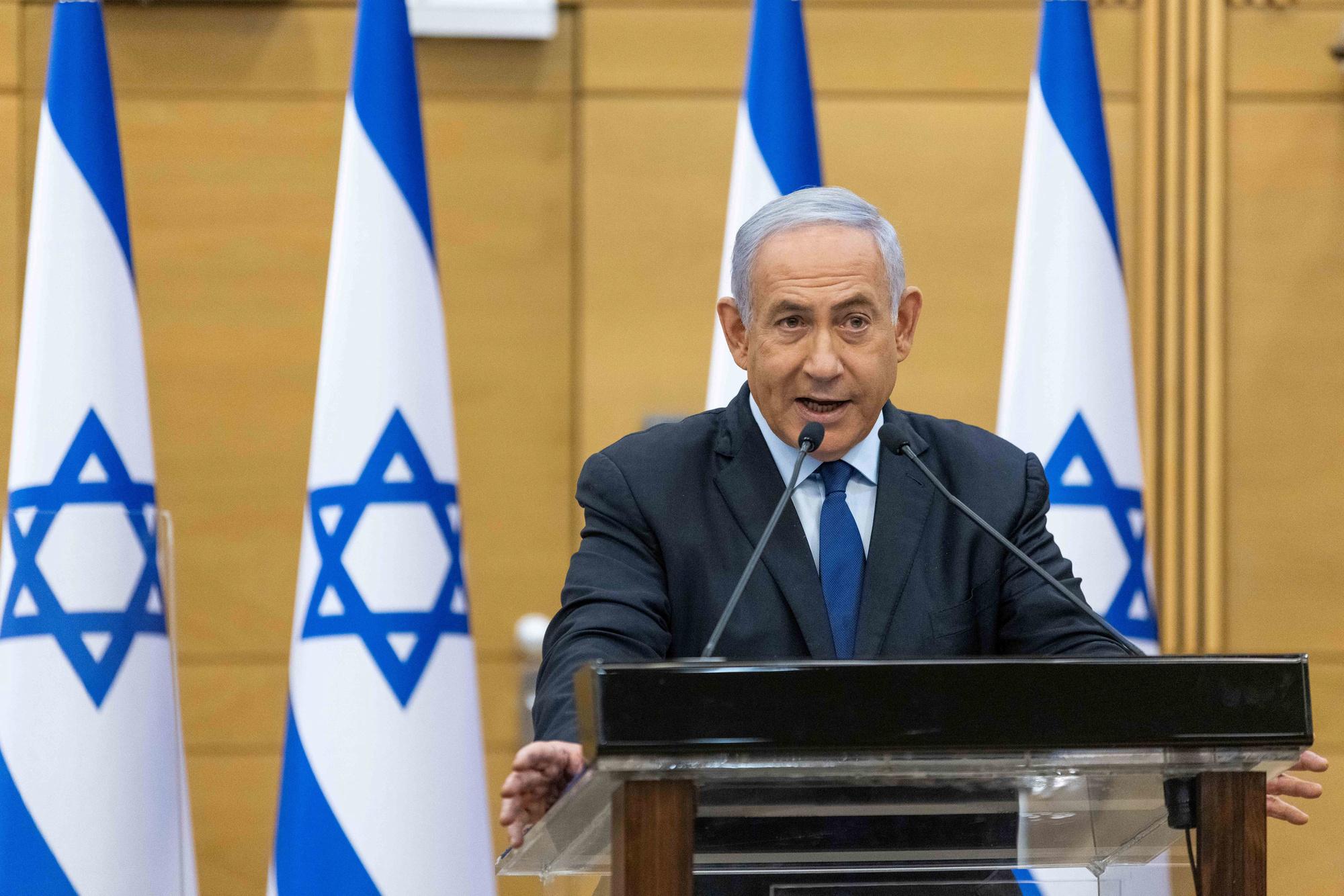 Netanyahu reageerde in de Knesset, het parlement., Reuters