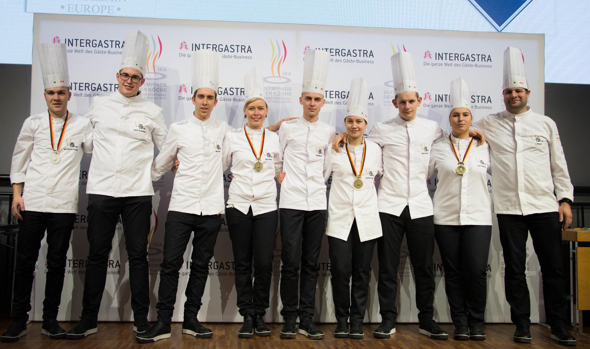 Het Belgische Young Chefs team, .