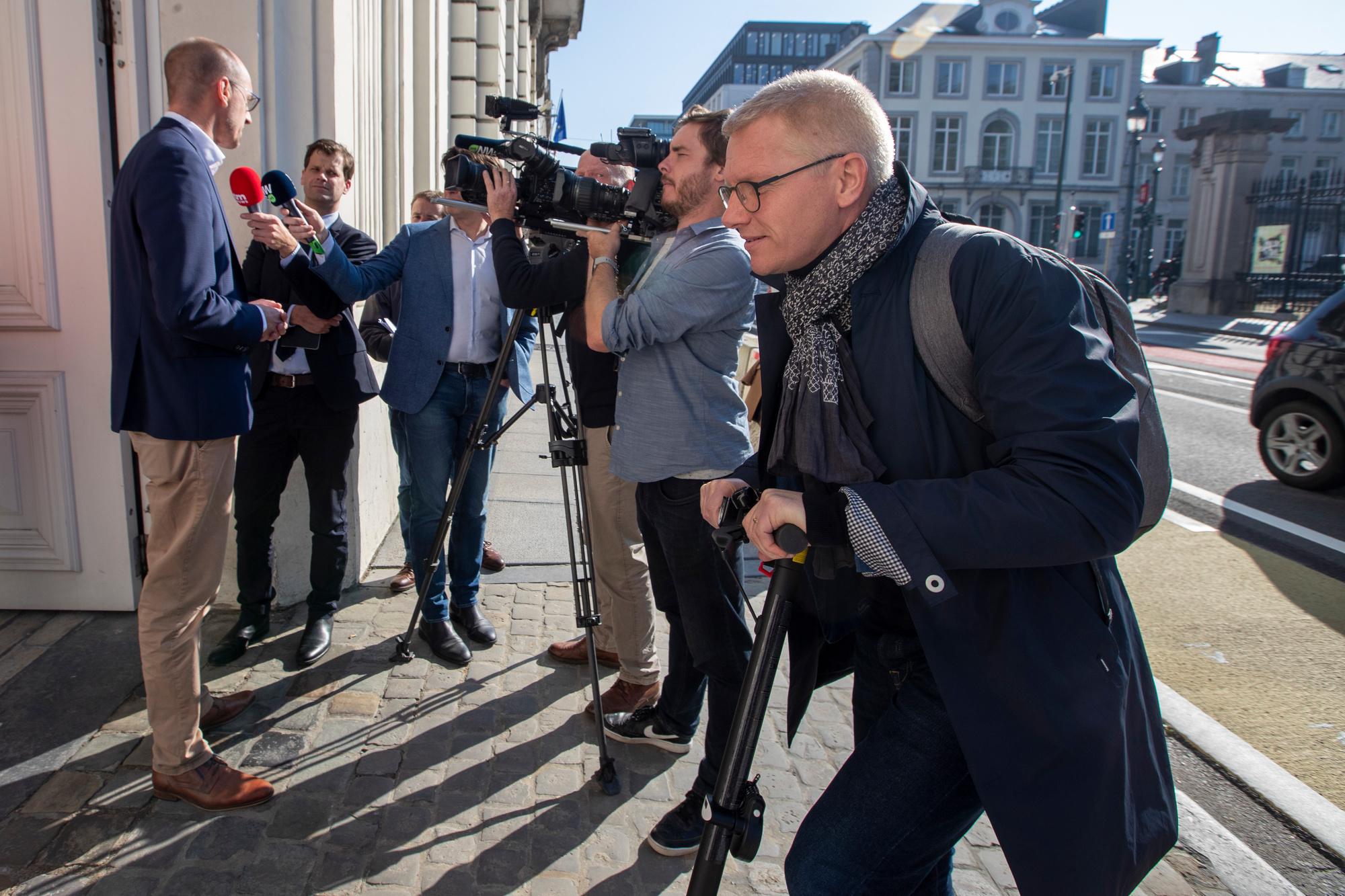 Le Vice Premier ecolo Georges Gilkinet arrive au conclave budgétaire, BELGA