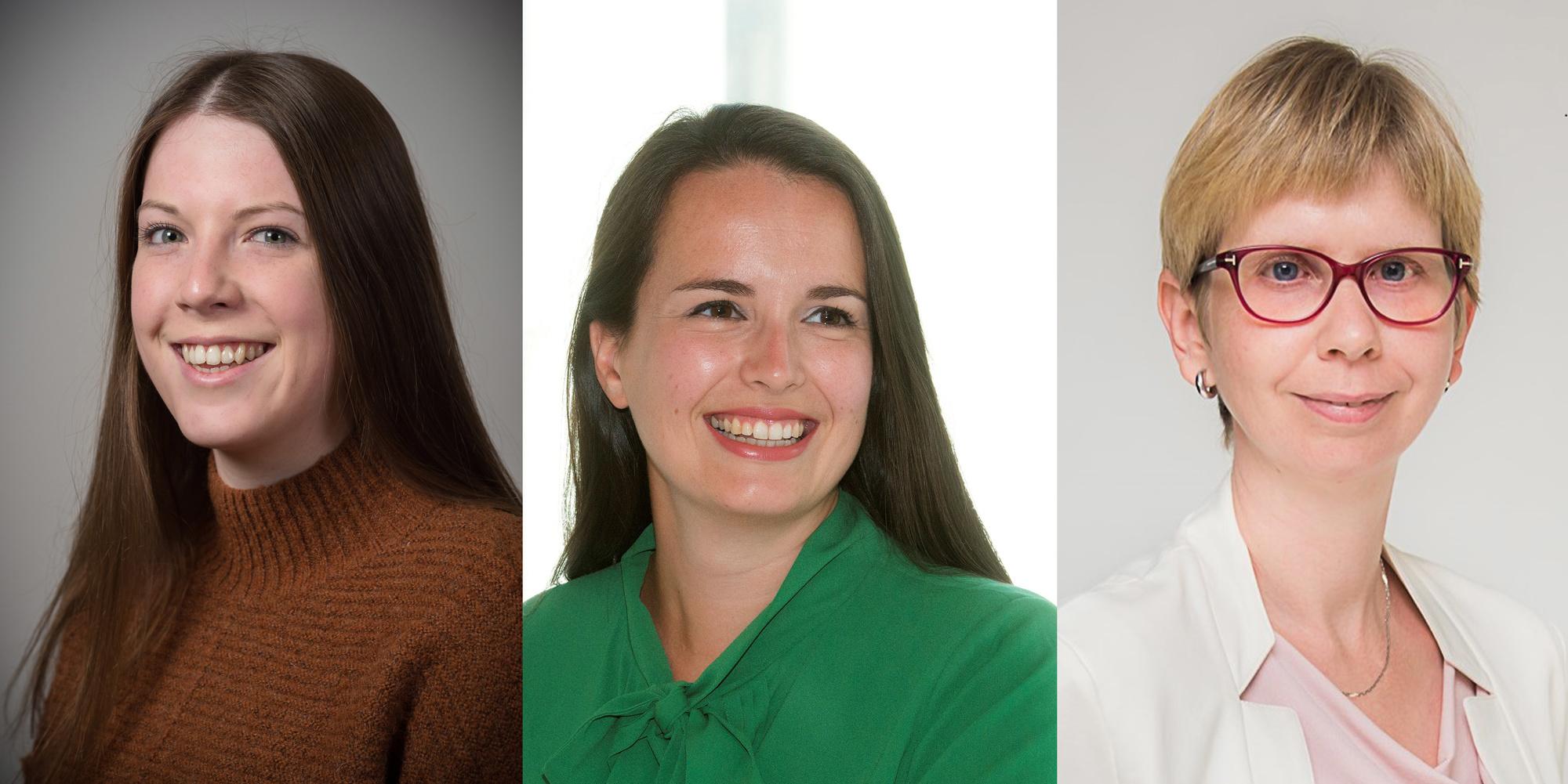 Van links naar rechts: Inke Torfs, doctoraal onderzoeker. Lieselot Danneels, professor e-governance en Ellen Wayenberg, professor publiek beleid en bestuur, .