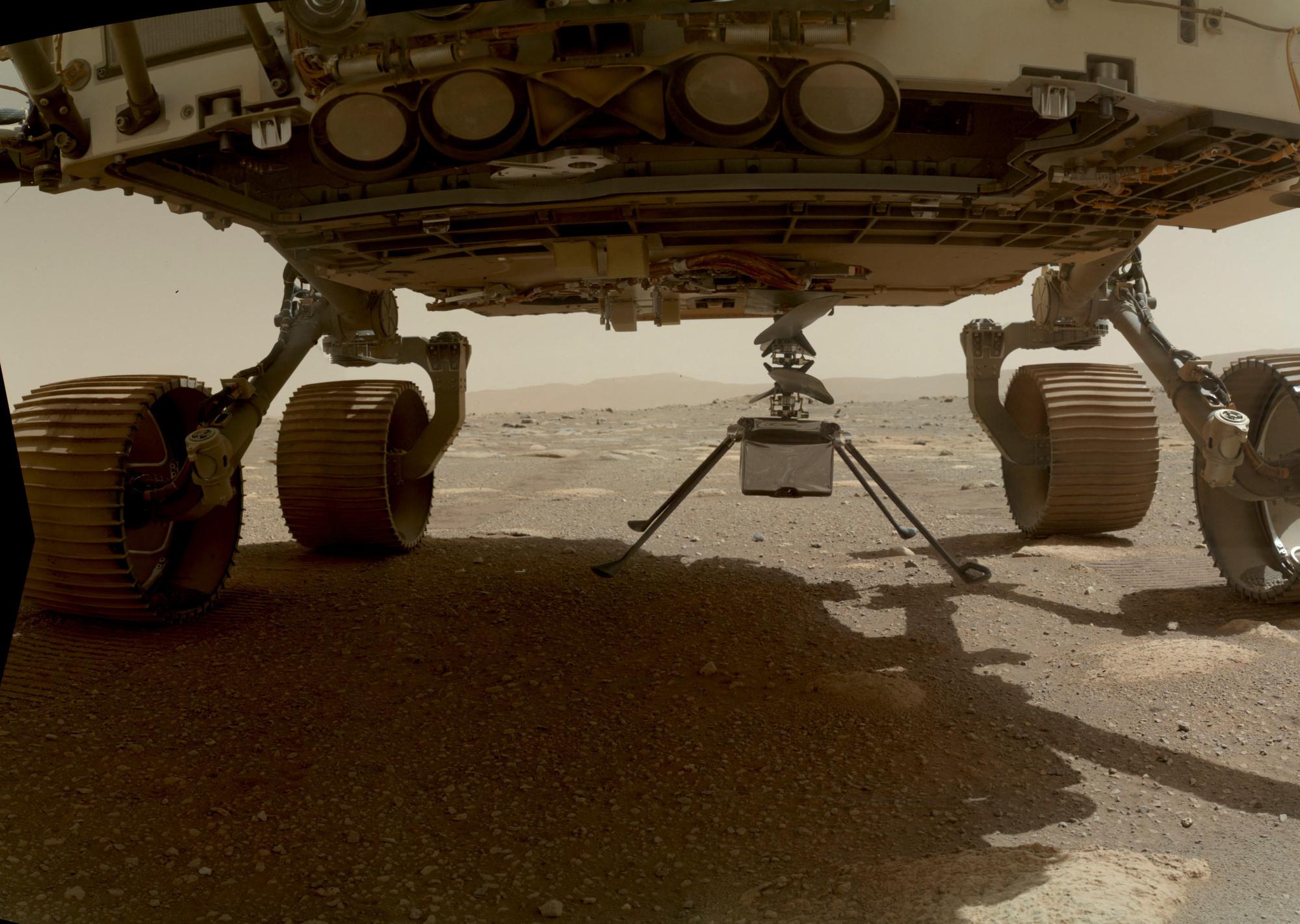 Ingenuity lâché par le rover Perseverance, belga