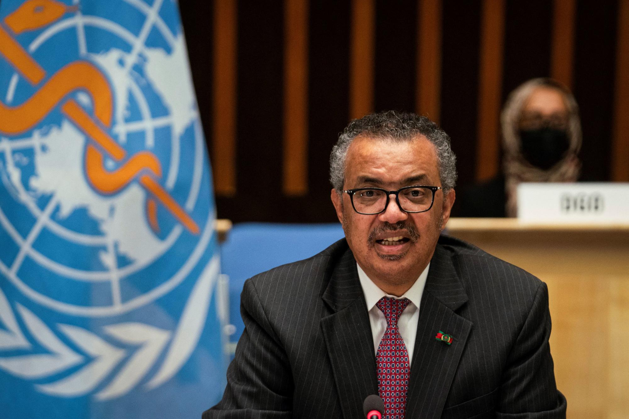 Tedros Adhanom Ghebreyesus, directeur général de l'OMS, Christopher Black / World Health Organization / AFP