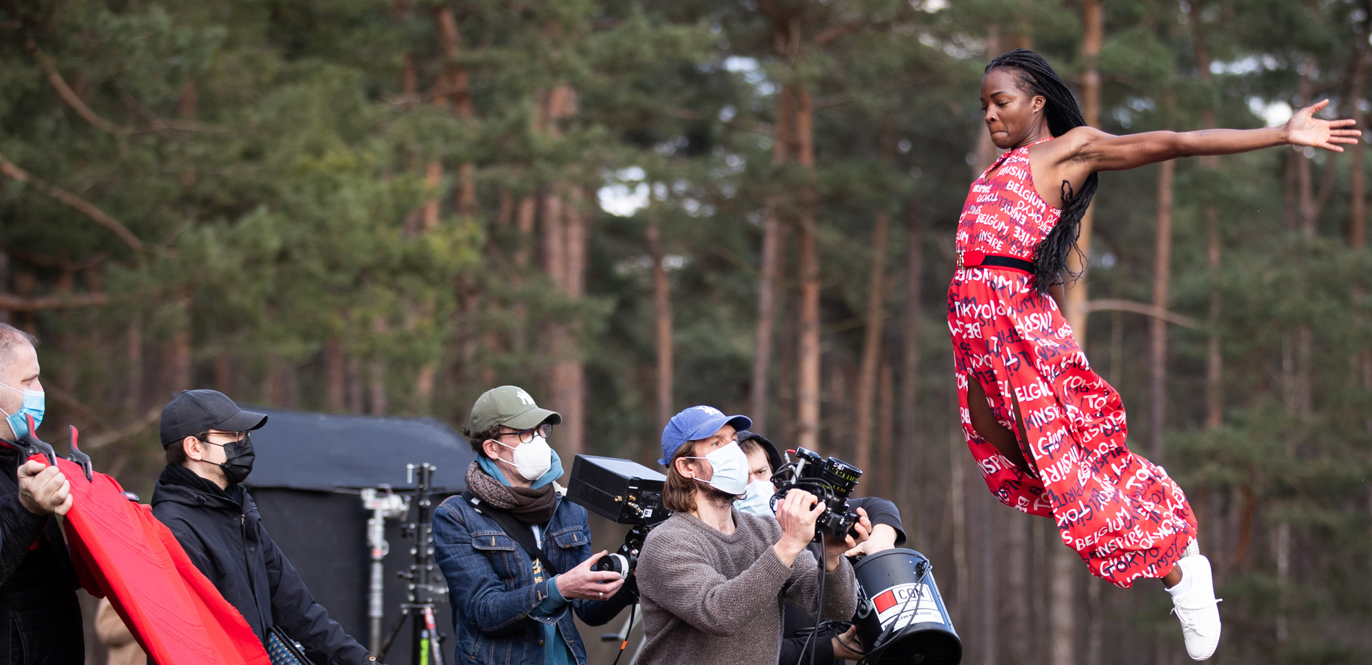 Cynthia Bolingo pendant le tournage du clip Catwalk to Tokyo du Comité olympique belge, pour présenter l'équipe d'athlètes chargés de représenter la Belgique, Belga Images