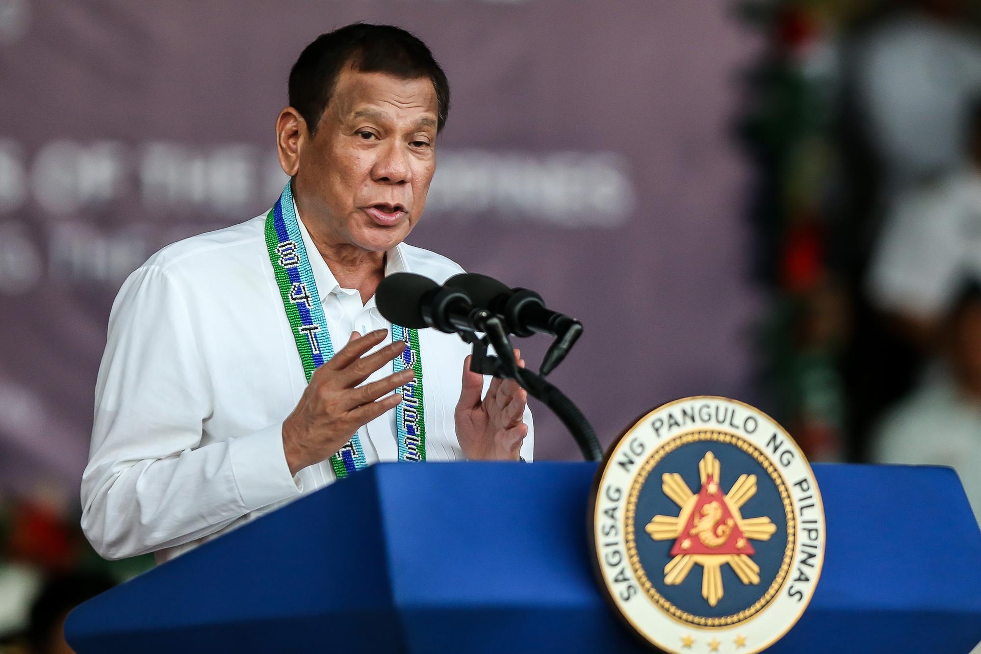 Filipijns president Rodrigo Duterte, Belga Image