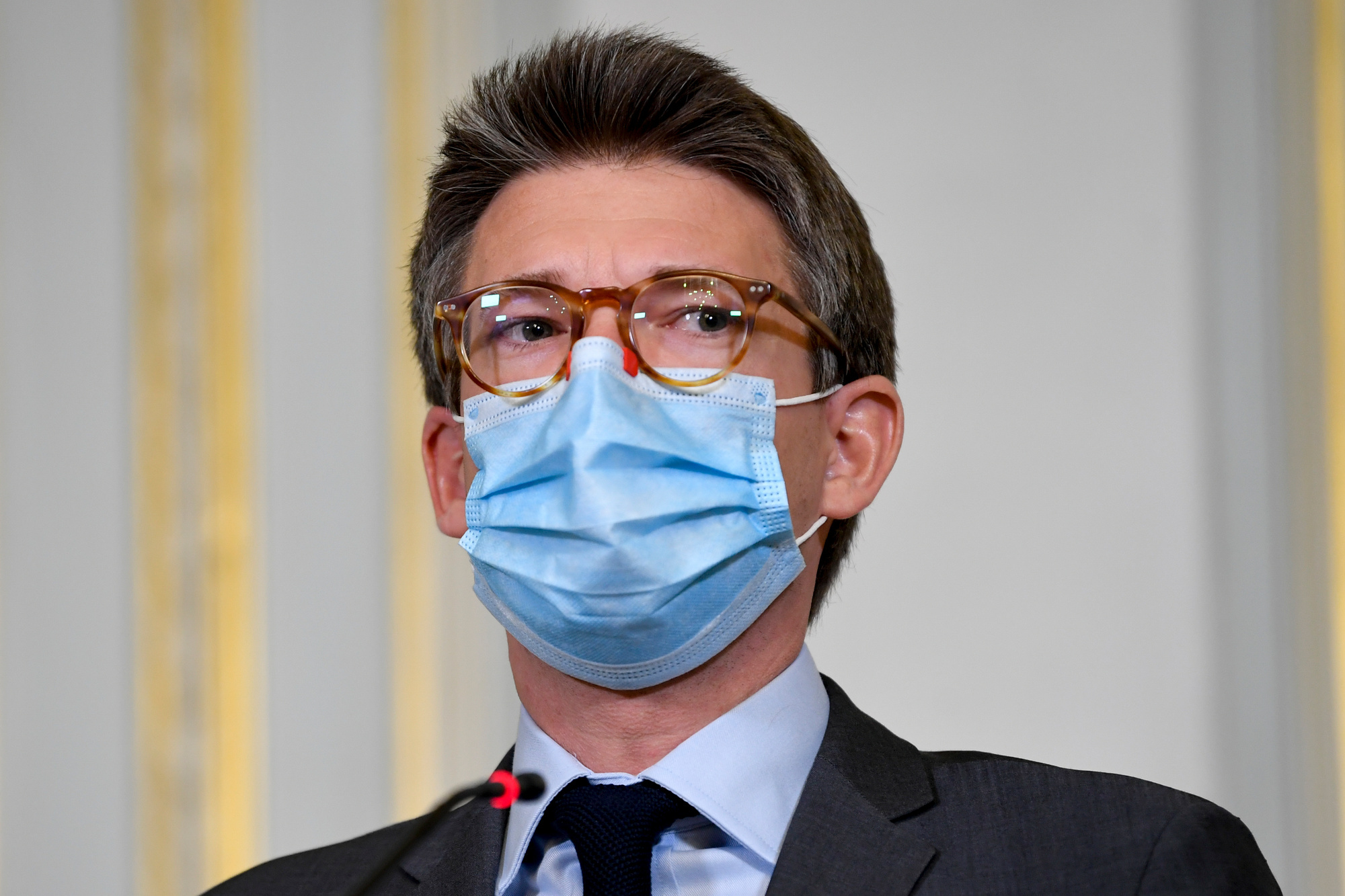 Pierre-Yves Dermagne, ministre de l'Emploi, BELGA PHOTO POOL FREDERIC SIERAKOWSKI