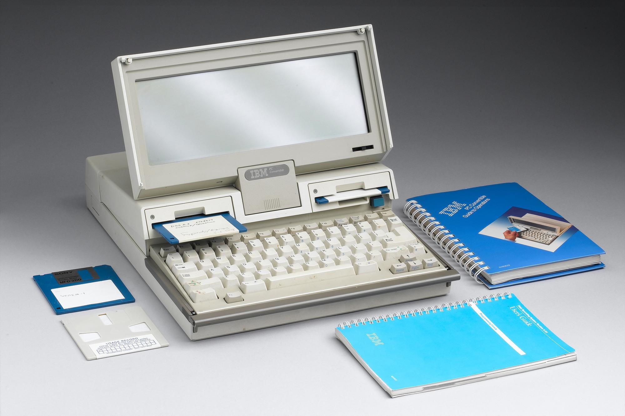Een IBM laptop model 5140 uit 1987-1988., Getty Images