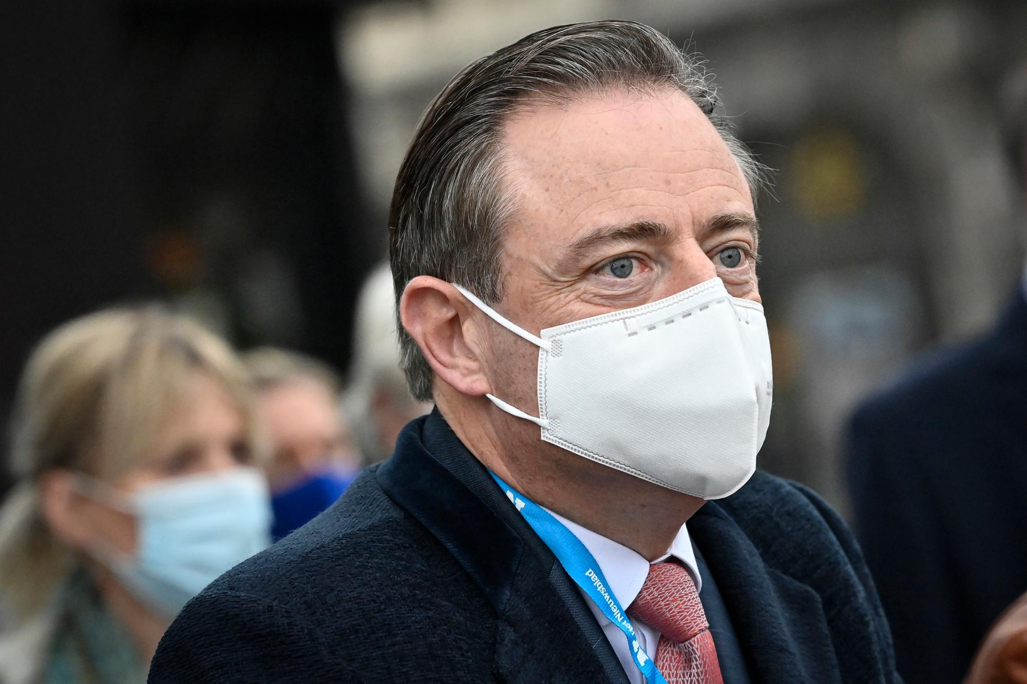 Bart De Wever op 18 oktober 2020, Belga