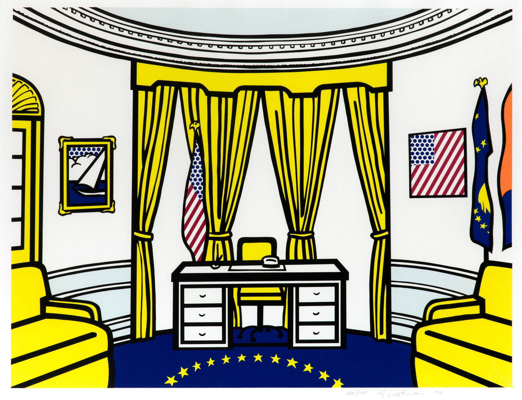 Roy Lichtenstein, The Oval Office, 1992, © Estate of Roy Lichtenstein / SABAM 2020
