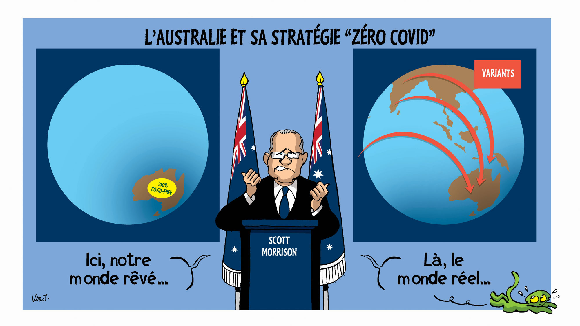 Le New South Wales, état le plus peuplé d'Australie, risque de devoir se reconfiner, face à l'échec de la stratégie visant à éradiquer le Covid-19 de l'ile-continent., Vadot
