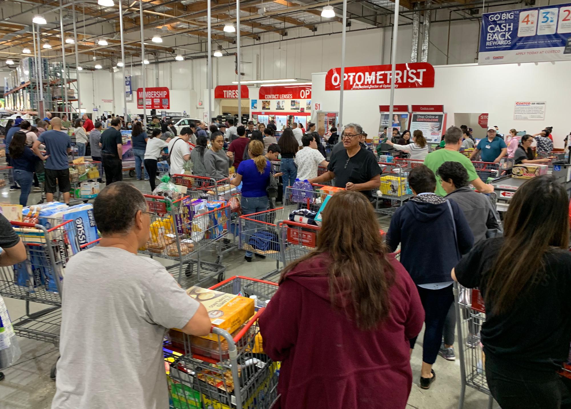 Ruée dans un supermarché de Los Angeles, AFP