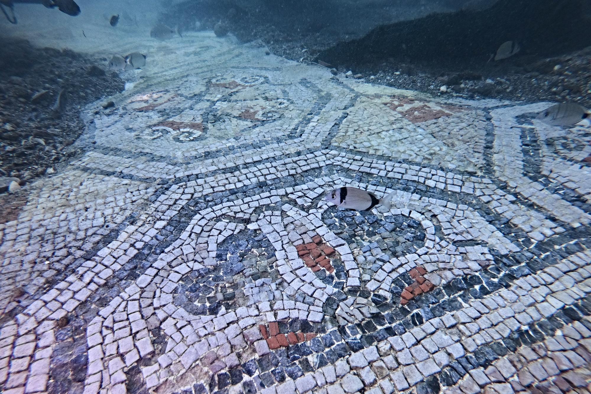 Villas romaines sous-marines., AFP