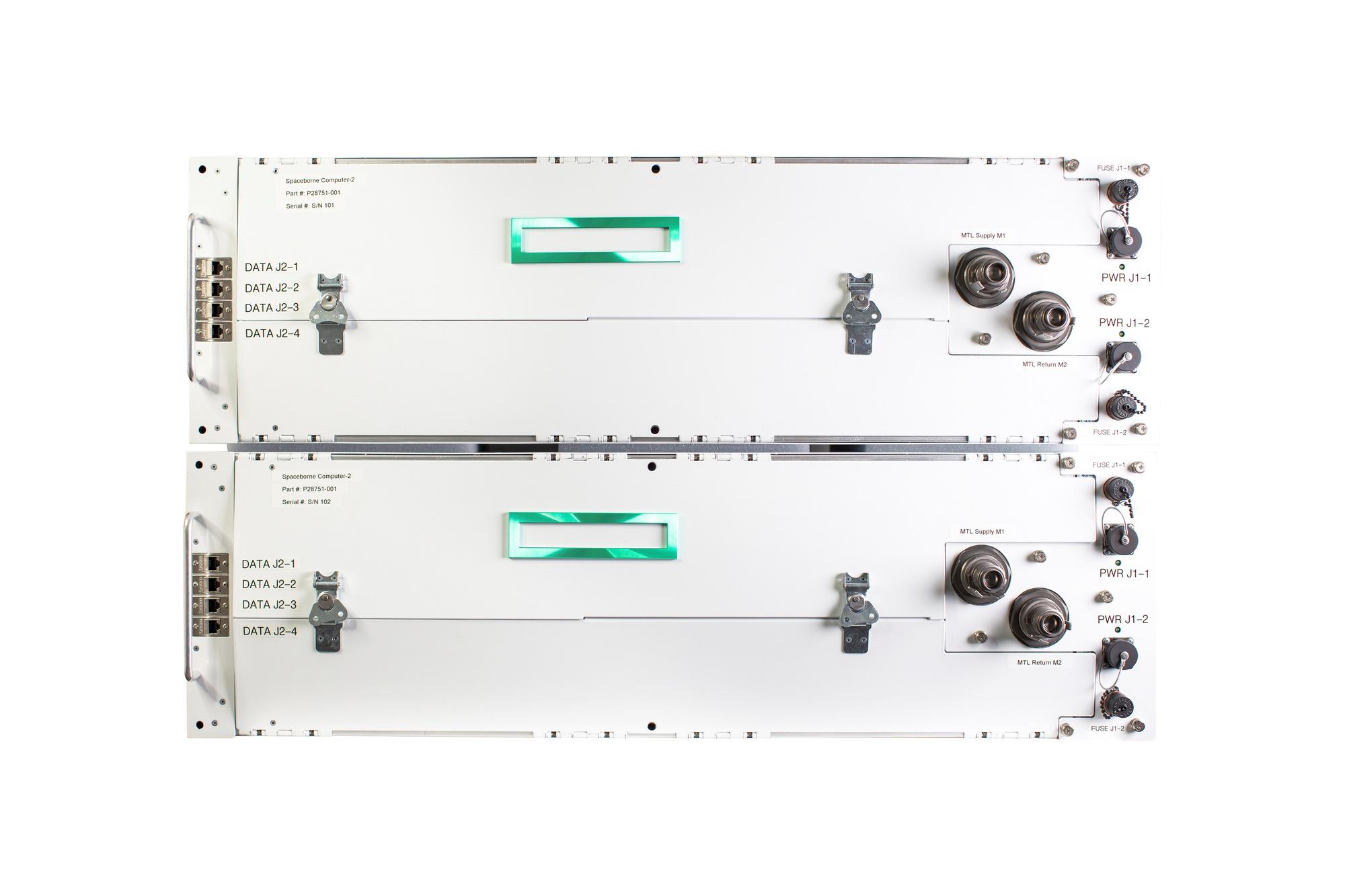 Les deux casiers pour le Spacebourne Computer-2, HPE