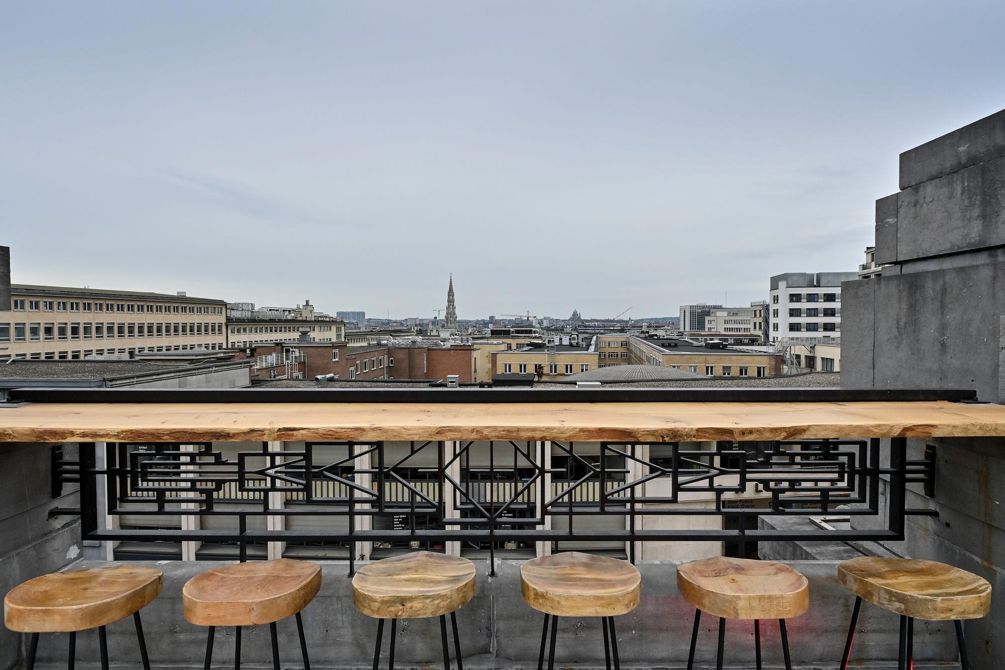 Terrasse panoramique Bozar., Belga