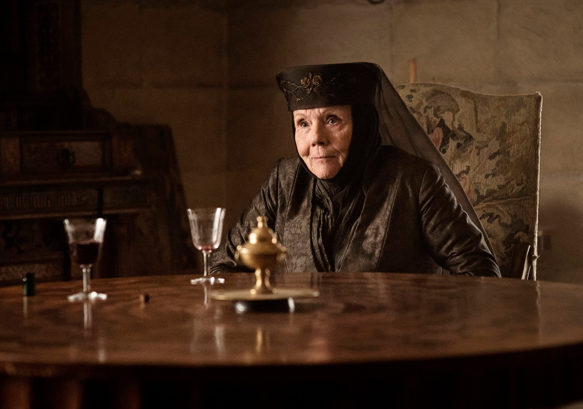 Diana Rigg, Olenna Tyrell dans Game of Thrones, ISOPIX