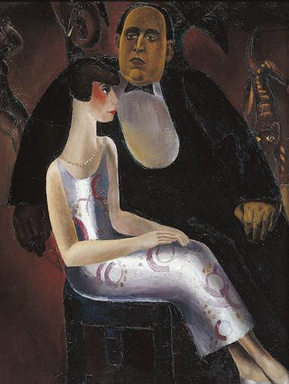 Paul-Gustave Van Hecke en Honorine Deschryver, geschilderd door Frits Van den Berghe, GF
