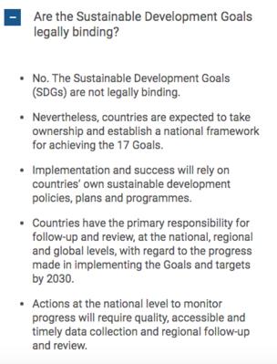 Website SDGs UN FAQ