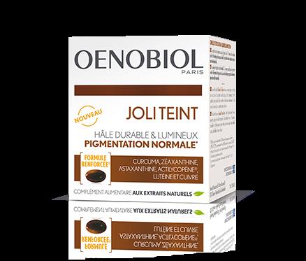 Oenobiol Joli Teint, +/- 22 euros la cure de 30 jours, DR