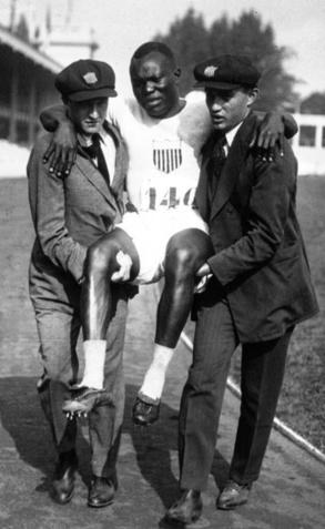 Sol Butler na zijn blessure op de Spelen van Antwerpen, GETTY