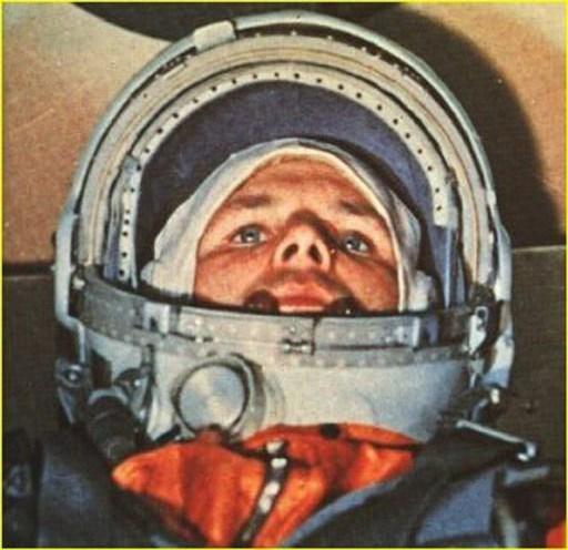 Gagarine, lors du vol légendaire du 12 avril 1961.