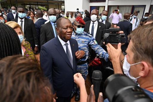 President Ouattara, intussen ettelijke keren herkozen.