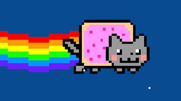 Nyan cat. Een gif van deze meme werd als NFT verkocht voor 500.000 dollar, Chris Torres