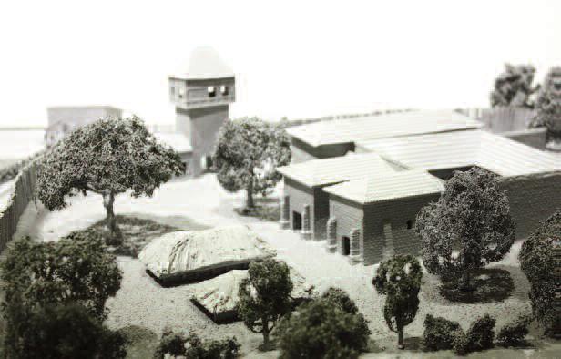 Maquette hypothétique du palais de Herstal (réalisée par Jean-Christophe Hubert et visible au Musée de la ville de Herstal, Sébastien Smets