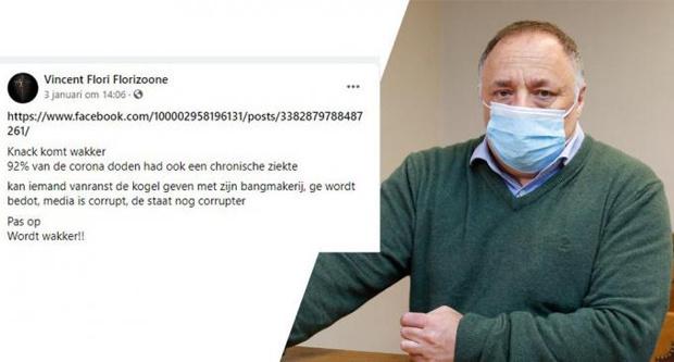 Vincent Florizoone bedreigt Marc Van Ranst, KW.be