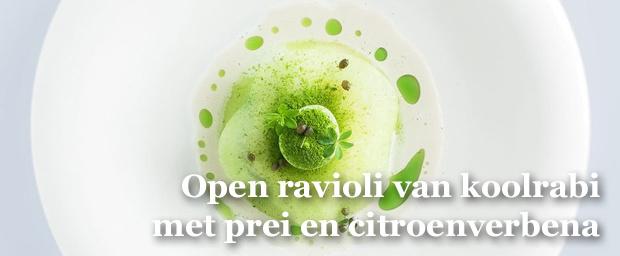 Een recept van groentechefs Laurence en Jonas Haegeman, van familiezaak De Vijf Seizoenen in Brakel. , .