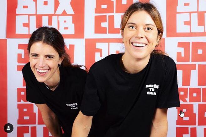 Roxane et Agathe Gernaert, fondatrices de Knees to chin, DR Instagram