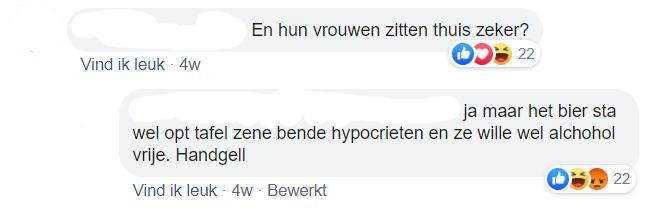 Commentaren op de foto van de barbecueënde mensen., Facebook