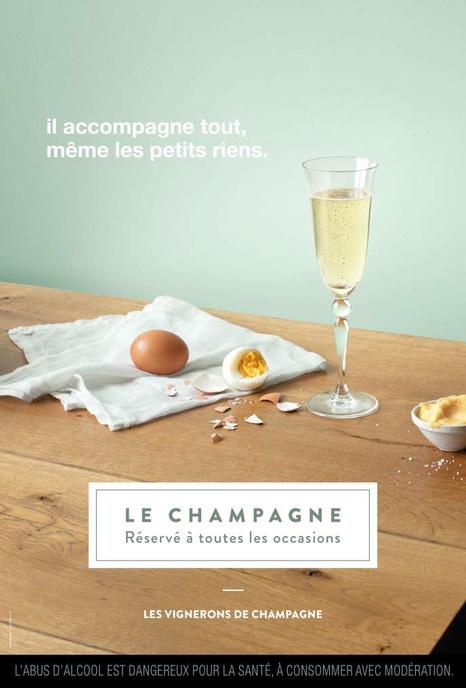 La campagne de publicité du Syndicat général des vignerons de la Champagne, en 2018., M&C SAATCHI GAD