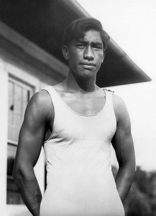 Duke Kahanamoku was een van de sterren van de Spelen in 1920, GETTY