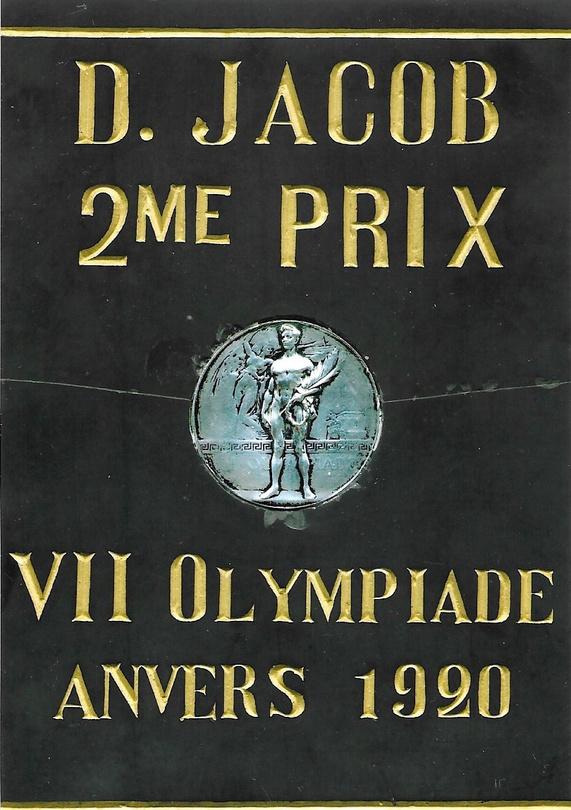 De zilveren medaille van Domien Jacob, gf