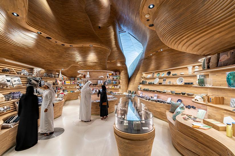Boutique du musée Musée national du Qatar, ERCO